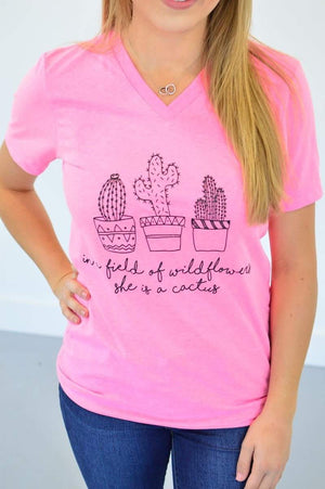 She is a Cactus V-Neck - MOB Fashion Boutique