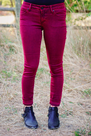 Articles of Society Sarah in Distressed Burgundy - MOB Fashion Boutique