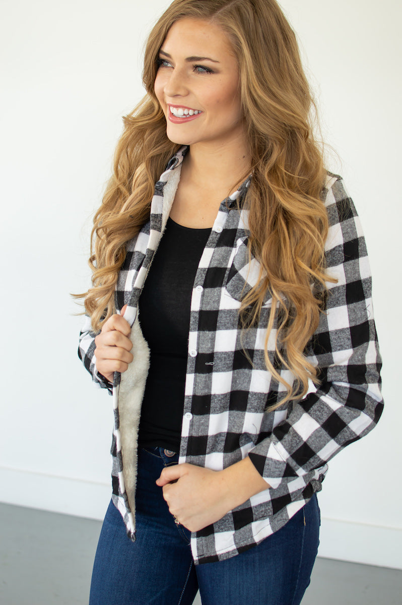 Fur Lined Plaid Flannels | 4 Colors! - MOB Fashion Boutique