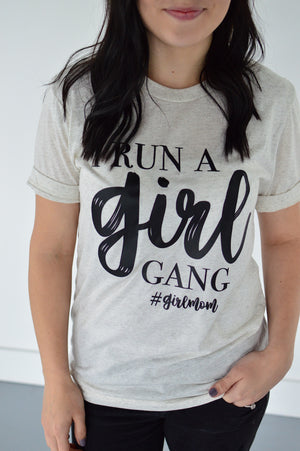 Girl Gang Tee | Oatmeal - MOB Fashion Boutique