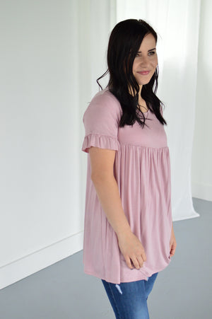 Ruffle Sleeve Babydoll - MOB Fashion Boutique