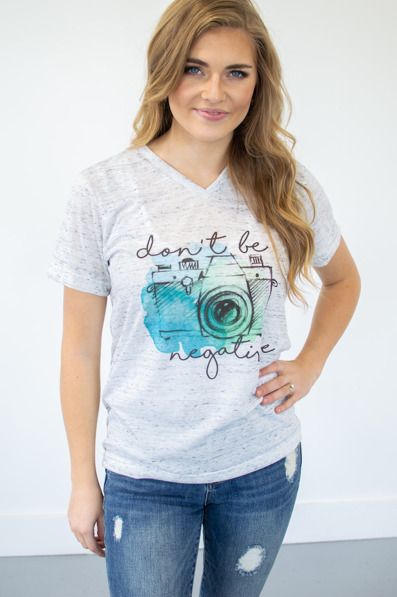 Don't Be Negative Tee - MOB Fashion Boutique