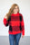 Oversize Buffalo Plaid Sweater | Red and Black - MOB Fashion Boutique