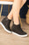 Zoey Wedge Sneaker | Black - MOB Fashion Boutique