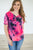 Slouchy Pocket Tee | Hot Pink Tie Dye - MOB Fashion Boutique