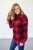 Red Plaid Pocketed Pullover - MOB Fashion Boutique