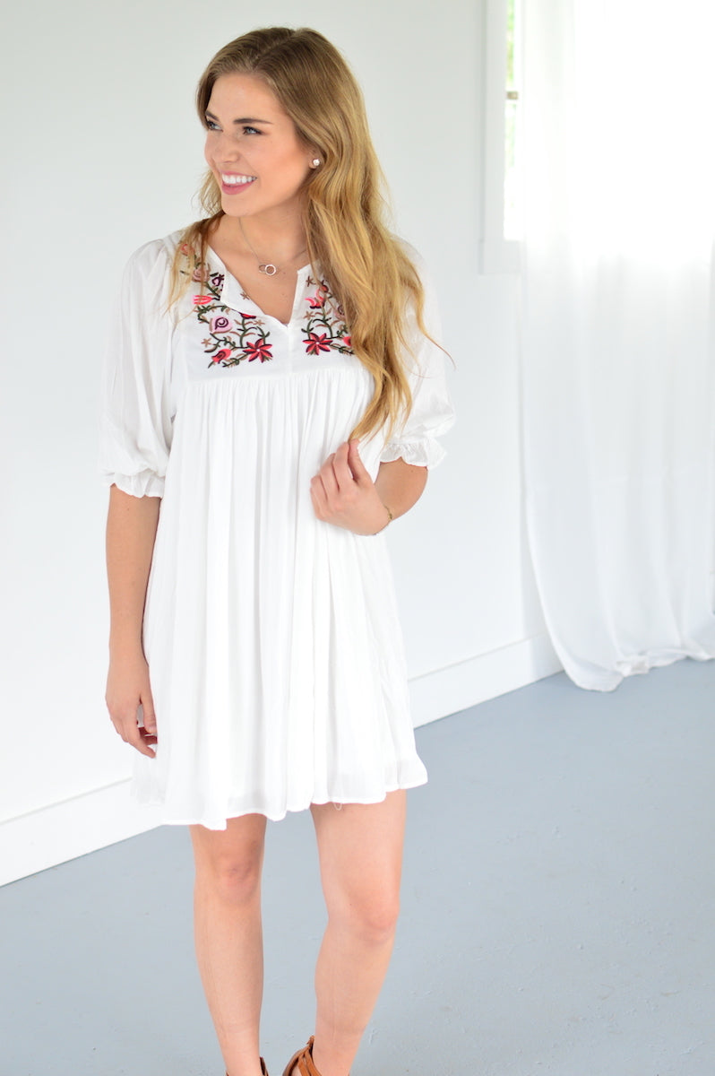Rebecca Embroidered Tunic - MOB Fashion Boutique