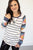 Aztec Raglan | Black and White Stripes - MOB Fashion Boutique