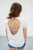 Backless Tee | White - MOB Fashion Boutique