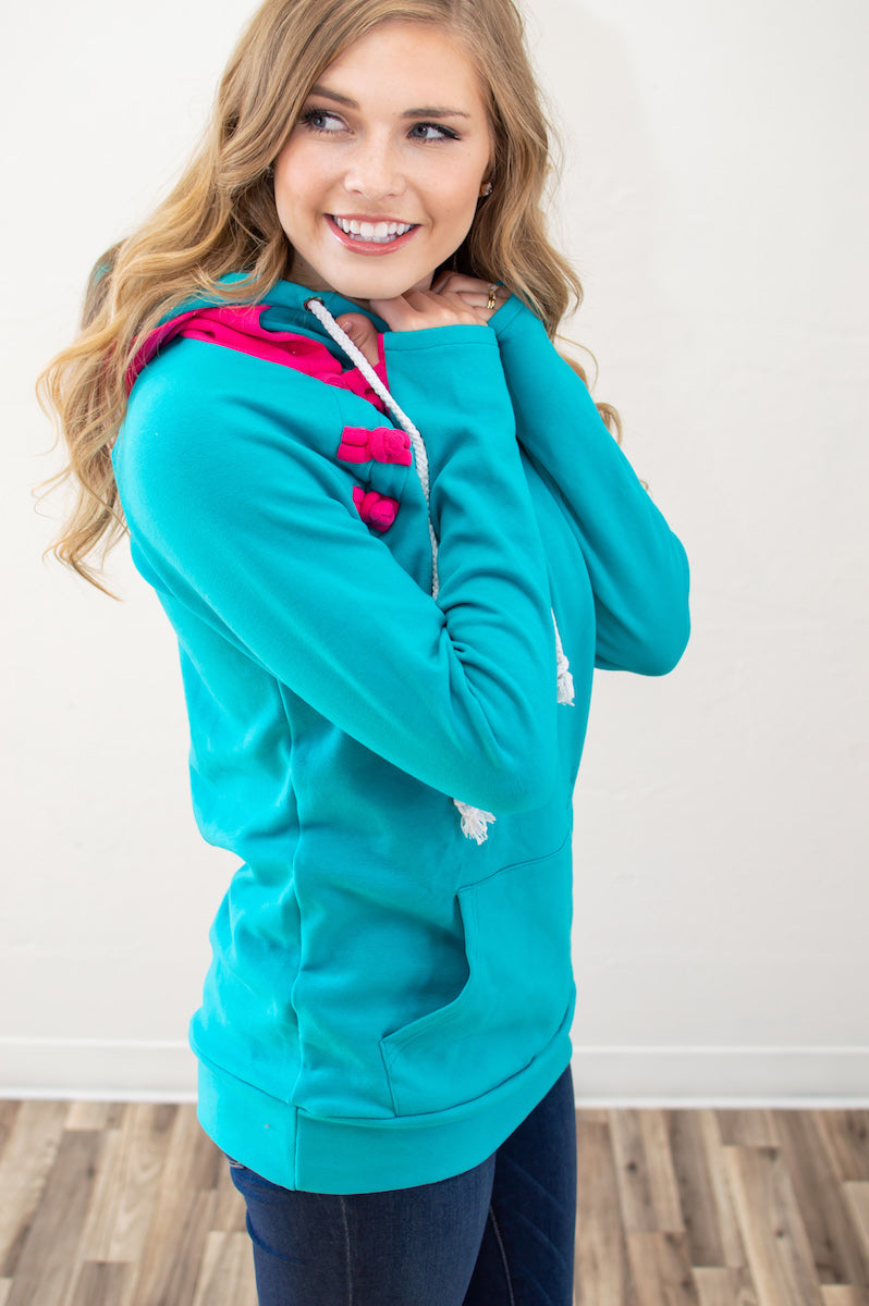 Summer Brights Beach Hoodie | Nursing Option Available - MOB Fashion Boutique