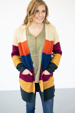 Falling for Stripes Cardi - MOB Fashion Boutique