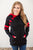 Red and Black Varsity Hoodie | Nursing Option available! - MOB Fashion Boutique