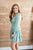 Peasant Dress | Mint Floral - MOB Fashion Boutique