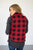 Ultra Plush Buffalo Plaid Vest | Black and Red - MOB Fashion Boutique
