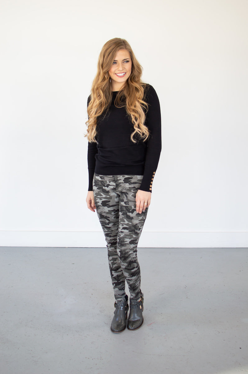 Camo Moto Leggings | Black - MOB Fashion Boutique