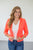 3/4 Sleeve Summer Blazer | Neon Pink - MOB Fashion Boutique