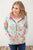 Bright Florals Half Zip Hoodie - MOB Fashion Boutique
