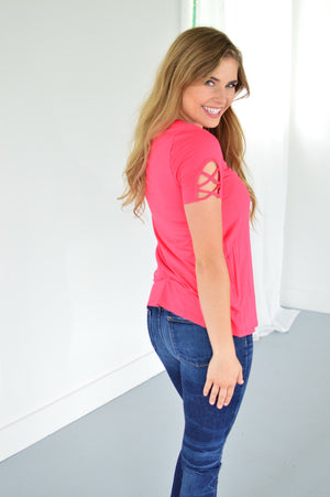 Jane Tee | Coral - MOB Fashion Boutique