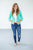 3/4 Sleeve Summer Blazer | Bright Mint - MOB Fashion Boutique