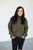 Popcorn Turtle Neck Sweater | Olive - MOB Fashion Boutique