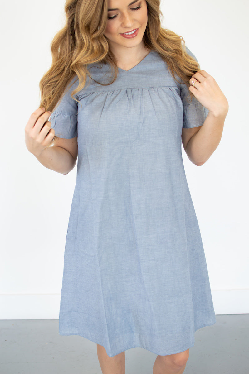 Denise Chambray Dress - MOB Fashion Boutique
