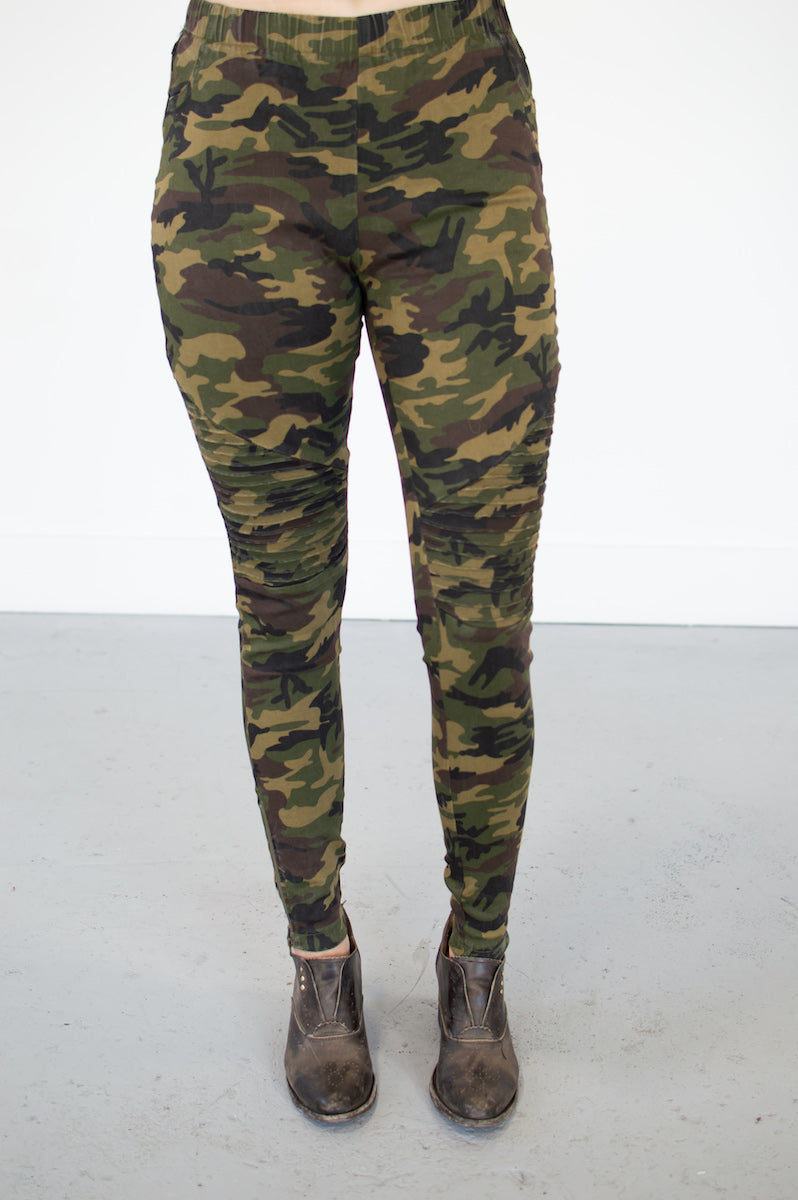 Camo Moto Leggings - MOB Fashion Boutique