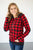 Buffalo Plaid Dot Half Zip - MOB Fashion Boutique
