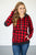 Buffalo Plaid Dot Halfzip Hoodie - MOB Fashion Boutique