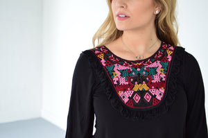 Hailey Embroidered Top - MOB Fashion Boutique