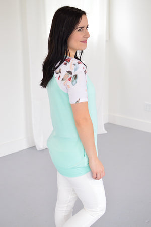 Pocketed Mint Tee - MOB Fashion Boutique
