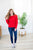 Only For You Red Pom Sweater - MOB Fashion Boutique