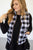 Back and White Buffalo Plaid Vest - MOB Fashion Boutique