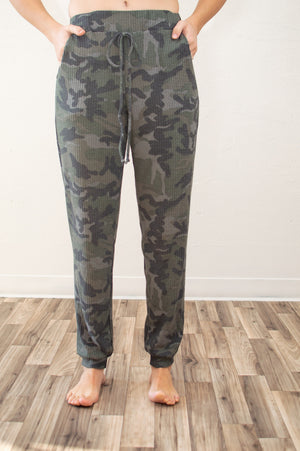 Camo Waffle Knit Joggers | Set Available - MOB Fashion Boutique