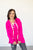 Lace Up Pullover | Hot Pink - MOB Fashion Boutique