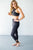 Criss Cross Athletic Leggings | Charcoal - MOB Fashion Boutique
