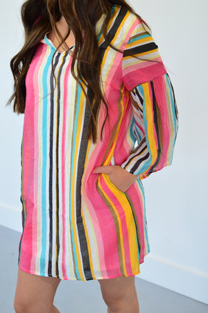 Summer Sorbet Bell Sleeve Dress - MOB Fashion Boutique