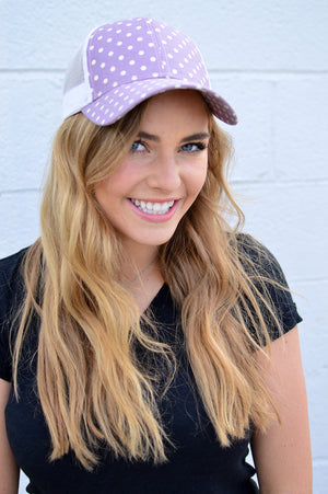 C.C. Polka Dot Trucker - MOB Fashion Boutique