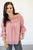 Blush Ruffle Sleeve Blouse - MOB Fashion Boutique