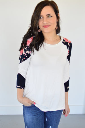 Pop of Spring top - MOB Fashion Boutique