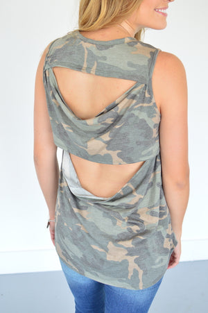 Now You See Me Camo Tank - MOB Fashion Boutique
