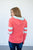 Coral and Mint Summer Varsity Hoodie | Nursing Option Available - MOB Fashion Boutique