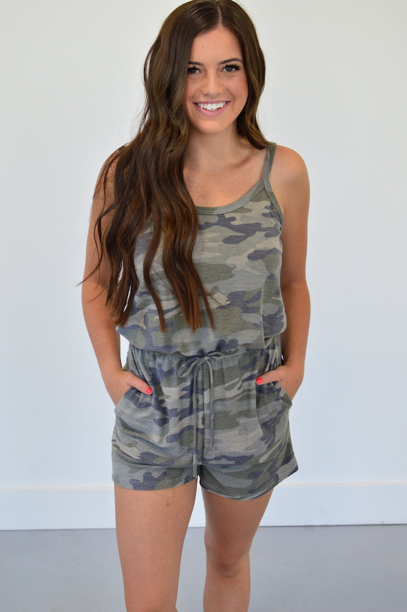 Camo Romper - MOB Fashion Boutique