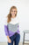 The best in you women's waffle knit top | Amethyst