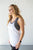 Strappy Back Athletic Tank | White - MOB Fashion Boutique