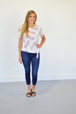 Piña Colada Knot Tee - MOB Fashion Boutique