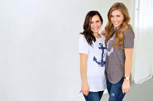 Anchors away | White - MOB Fashion Boutique