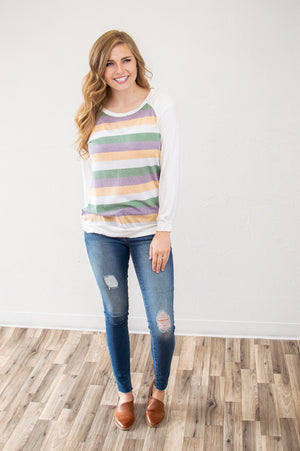 Mardi Gras Stripes Top - MOB Fashion Boutique