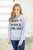 Don't Wake Me Up Heather Grey Crew - MOB Fashion Boutique