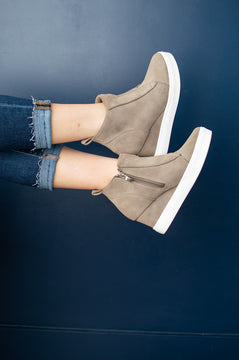 Zoey Wedge Sneaker | Taupe