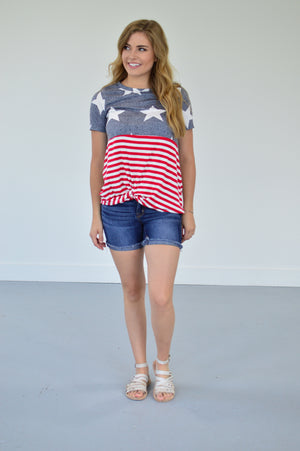 Freedom Twist Tee - MOB Fashion Boutique